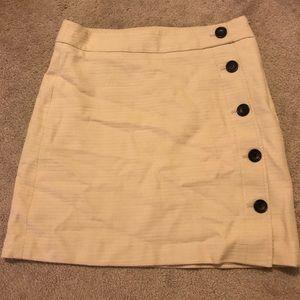 Ann Taylor Skirts - Ann Taylor cream skirt with buttons